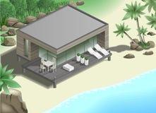 Modern bungalow on the coast Stock Image