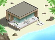 Modern bungalow on  coast Stock Image