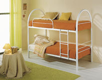 Modern bunk bed for children or young Royalty Free Stock Images