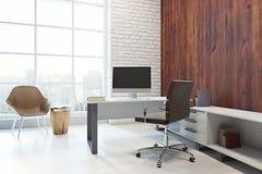Modern bureau met exemplaarruimte Stock Afbeelding