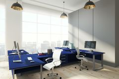 Modern bureau met exemplaarruimte Stock Foto