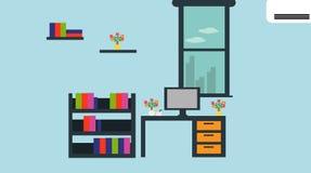 Modern bureau met goede atmosfeer Vector graphhics stock illustratie
