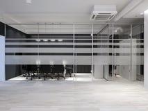 Modern bureaubinnenland De ruimte van de vergadering het 3d teruggeven royalty-vrije stock afbeelding