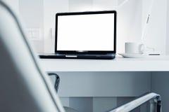 Modern Bureauwerkstation Stock Foto