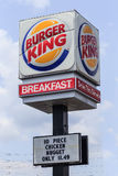 Modern Burger King Restaurant Sign Royalty Free Stock Images