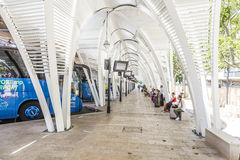 Modern Bus station Gare Routiere in Aix en Provence Stock Image