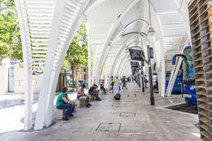 Modern Bus station Gare Routiere in Aix en Provence Stock Photography