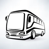 Modern bus symbol Royalty Free Stock Photo