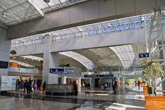 Modern bus terminal in Quito Stock Photos