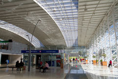Modern bus terminal in Quito Royalty Free Stock Image