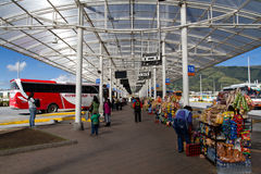 Modern bus terminal in Quito Royalty Free Stock Photos