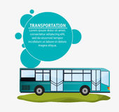 Modern bus transport infographic Royalty Free Stock Image