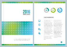 Modern Business Annual Report Cover Design. A modern annual report design for cover and an inside page Stock Photo