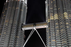 Modern business architecture. View of Petronas Towers - modern business architecture royalty free stock photography