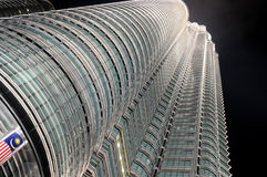 Modern business architecture. View of Petronas Towers - modern business architecture stock image