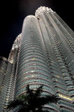 Modern business architecture. View of Petronas Towers - modern business architecture stock photo
