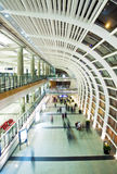 Modern Business Architecture. Hall in Hong Kong International Airport Stock Images