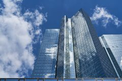 Modern business architecture in Frankfurt am Main. With glass facades Royalty Free Stock Photos