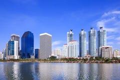 Modern business area in Bangkok Royalty Free Stock Image