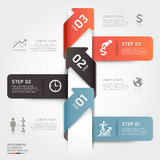 Modern business arrow origami step options. Stock Photos