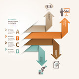 Modern business arrow origami style step options. Royalty Free Stock Photo