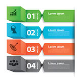 Modern business banner box infographic Stock Photo