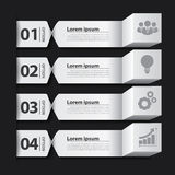 Modern business banner box infographic Royalty Free Stock Image