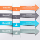 Modern business banner. Modern business step origami style options banner. Can be used for workflow layout, diagram, number options, step up options, web design Stock Image
