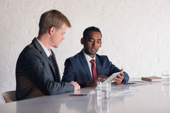 Modern business in the boardroom Royalty Free Stock Images