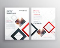 Modern business brochure flyer design template with abstract sha. Pes Royalty Free Stock Photo