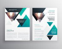 Modern business brochure template design made with triangle shap. Es Stock Photos