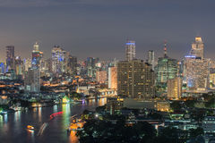 Modern Business Building along the river Bangkok Thailand Royalty Free Stock Photography