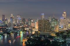 Modern Business Building along the river Bangkok Thailand Royalty Free Stock Photography