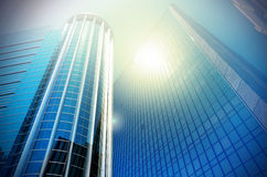 Modern business building glass of skyscrapers, Business concept Stock Photo