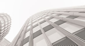 Modern business building with reflection Royalty Free Stock Images