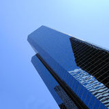 Modern business buildings. Against a clear blue sky royalty free stock images