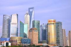 Modern business buildings as landmark in Shanghai Stock Image