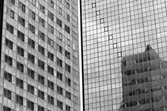 Modern business buildings black and white shot. Royalty Free Stock Photography