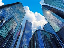 Modern business buildings stock image