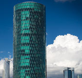 Modern business buildings in Frankfurt, Germany Royalty Free Stock Images