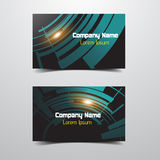 Modern Business Card Royalty Free Stock Images
