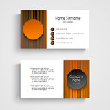Modern business card with black orange round template Stock Photo