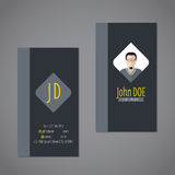 Modern business card with dark background Stock Photography