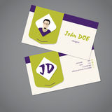 Modern business card design Royalty Free Stock Image