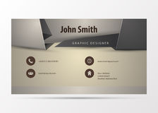 Modern Business card Design Template. Origami style. Vector illustration Stock Photo