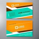 Modern Business card Design Template Stock Photo