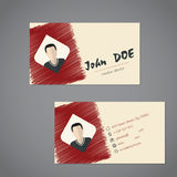Modern business card with scribbled elements Stock Photography