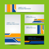 Modern Business Card Set Stock Images