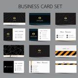 Modern business card set. Modern business card set design stock illustration