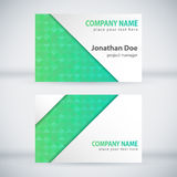 Modern Business-Card Set 01. Green Modern Business Card Set. Vector Design Royalty Free Illustration